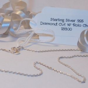 Jewelry - 👻STERLING SILVER 925 ROLO CHAIN